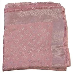 Louis Vuitton Pink Silver Shawl